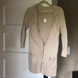 Oatmeal button up cardigan